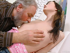 Everyone likes observing a youthful stunner like Jenya getting fucked. She's getting a big, huge mature shaft from an old stud who idolizes youthful ladies.