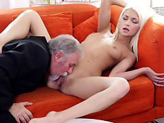 Fortunately for Tanya, her old heads youthful manager was not just about his own sexual kinkiest and fulfillment. He also knew how to munch a pussy.