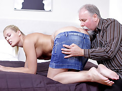 Elena can't believe how ultra-kinky this old guy is at having sex. He gobbled her beaver so ultra-kinky she just has to deep-throat his dick before she lets him strike her humid and impatient twat!