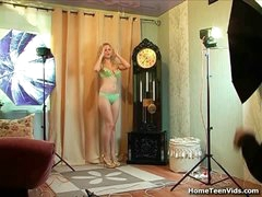 This super-fucking-hot golden-haired inexperienced is at a photoshoot when the photographer woos her to get out of that bikini. This girl gets very turned on off her and it doesn't matter if this is deep-throating wang or getting poked this likes the cock. She uses that slit on his meatpipe leaning against the wall, and anything in betwixt until this squirts a nut.
