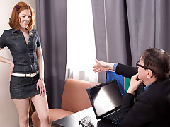 Tess was naughty and dreamed her tricky old teacher to pound her. She went to his office and flirted with him. Being hot, it didn't take lengthy to turn him on.
