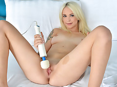 Gorgeous european ash-blonde leisurely undresses nude taunting and touching her fragile skin. Spunk greedy honey Arteya rubs her prettily trimmed muff as she plays with her nicely-shaped tits. When she cant take it anymore she uses a high voltage relieving to rubdown her sweet vagina to orgasmic pleasure.