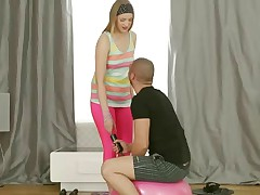 The super-sexy leggings are arousing perfection on sporty Milana Fox and he can't the force to struggle back them. Instead he makes a and pulls out his guy penis so the chick can go down on him and this honey does just that. She gives a uber-sexy Oral job and ends up on her palms and knees with his guy penis in her cum-hole from behind, among other positions.