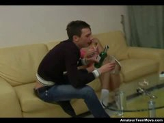 Dolci is a hawt teen doxy with a string up for devouring hard-on and she does plenty of it in this video. Her boyfriend uses some wine to receive her in the mood but one time her motor is started she wants greater amount and greater amount of his dick. They rip up like horny until he unloads spunk in her mouth.