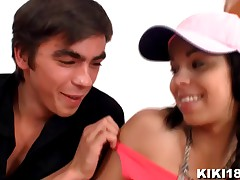 Kiki's young 18yo  opened up and deeply inserted on flick