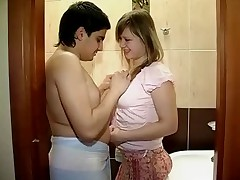 Erik wanted to have sex in the bath with Dasha and asked his finest fun button to shoot movie of it for them to keep. It is a diminutive space and a lil' clumsy but he gets his pecker beaten and romps her taut lil' gash nice and hard. Dasha even lets him fountain ball fluid throughout her tits.