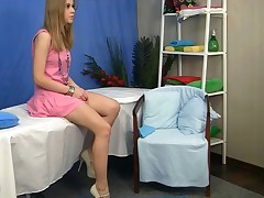 Hawt ash-blonde from this massage poke movie has just turned eighteen! That experienced is super cute, butt-bangs sexy, and what's greater amount - buxomest legal. I don't blame the doctor for to entice her during in nature's handling massage session. I mean, who wouldn't on his place? I sured would! And the girl didn't struggle back anyway. That experienced strings up doctors engulfing her Eighteen age taut gazoo and stringing up tits. In a short time it wasn't just massabe, but fingering, then unfathomable DT followed