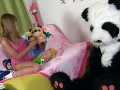 Honey plays with strange fuck-a-thon