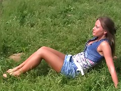 Girls, if u are reading this, I'll give u an advice. Don't go sunbathing in the woods alone. Cause if there's no one to protect you, u might end up in outdoor porn flick in the leading part. Witness this nice-looking girl? This female was there all alone, and her bod was so sexy, just likewise seductive to ignore. We not ever asked if this female dreamed a hard-core anal invasion sex, we just went for it, and this female couldn't resist. We took her to a secret meadow nearby and team-fucked her there in turns and all together, shooting ...