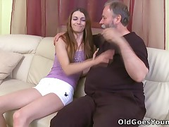 The old chap is simply thankful that he's had the opportunity to get in the panties of a young hotty like this again, this chab thought that his days of the young squealing had well and actually gone!