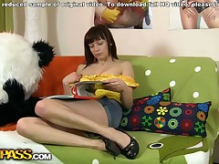 What do naughty teenager bombshells do when they're home alone and bored? They receive and play with fuck-fest toys! But this isn't simply a getting off video, 'coz the oversexed got her panda endure involved in her fuck-fest play. That babe BJ'ed the panda endure off, and that guy let the promiscuous chick his hefty dark strapon. The hefty tittie teenager took the big fuck-fest real deep in, moving and faster. The panda endure bum hooks knows how to a girl, and I wager she'll want to Iterate this ding-dong fuck-fest anew and ...